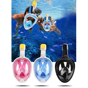 Snorkel Mask Easy Breath Accesorio Gopro Eken Buceo Playa