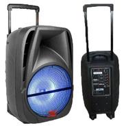 Bafle Senon De 15 Con Bateria, Luz Y Microfono Sb15ul