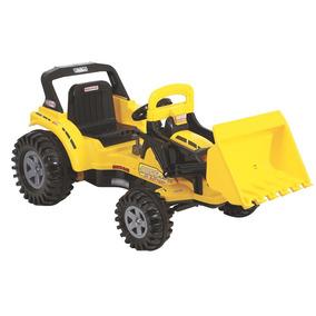 Mini Trator Elétrico Biemme Big Boss Com Pá Amarelo 12v