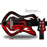 Hex Red Decal Style Skin - Para Warriors Of Rock Guitar Her