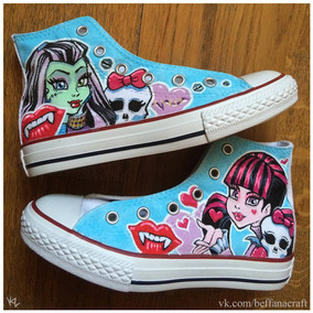 Tenis Monster High Pintados A Mano Marca Collec