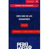 Entradas Perú Vs Nueva Zelanda C/u