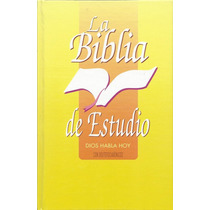 Biblia De Estudio Dios Habla Hoy Con Deuterocanonicos Dhh