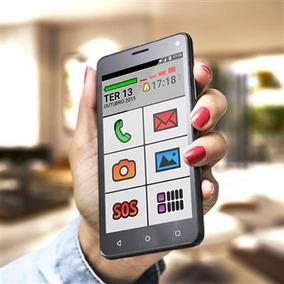 Smartphone Para Idosos Dual Chip, Wi-fi E 1 Ano De Garantia