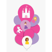 Kit Balão Buque Princesas Happy Day