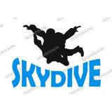 Adesivo Skydive Paraquedismo Queda Livre Salto Paraquedas 03