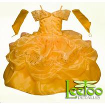 Vestido Bella Princesa Disfraz Envío E Invitaciones Gratis