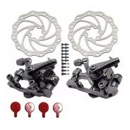 Par Freio A Disco Bicicleta Mecânico Pinças E Discos 160mm