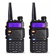 Kit 2 Rádio Comunicador Walk Talk Dual Band + Fone Uv5r