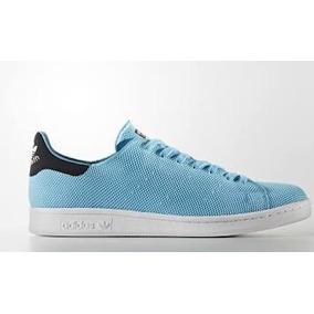Tenis adidas Stan Smith 100% Originales D Hombre Azul Cielo