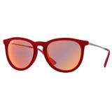 3c0efae3fd6ad Óculos De Sol Ray Ban Erika Velvet Veludo Rb4171 6076 6q 54