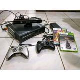 Xbox 360 Destrav 120gb + Kinect + 2 Contrs + Jogos Originais