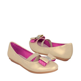 Zapatos Casuales Baby Forever 0410331585 18-21 Simipiel Oro