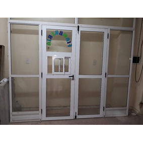Frente Vidriado De Negocio De Aluminio Con Puerta Doble