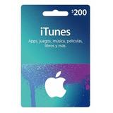 Itunes Gift Cards Tarjetas De Regalo $200 Con Descuento