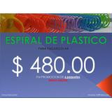 Espiral De Plástico Para Encuadernar O Engargolar Promocion!