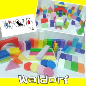 60 Bloques De Madera Waldorf/montessori. Escala Cromática