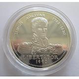 Moneda Conmemorativa Plata 10 Pesos 1990 - Simon Bolivar