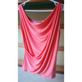 Remera Musculosa Mujer Marca Cr-talle 4 -jersey Color Salmon