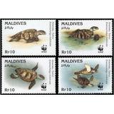 Fauna - Wwf - Tortugas - Islas Maldivas - Serie Mint (mnh)