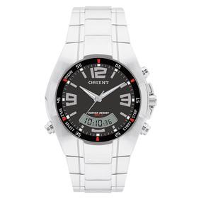 Relógio Orient Masculino Anadigi Mbssa025 P2sx Preto Aço