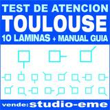10 Laminas Test Toulouse +manual Guía (impresos) Excelente