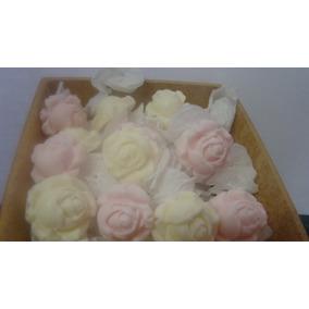Sabonete Mini Rosa Aromatizado 100 Unid Por R$ 25,00