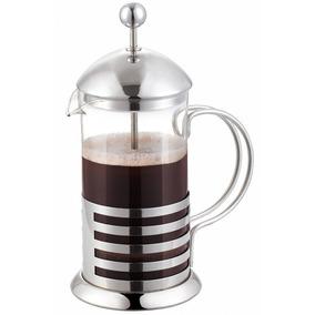 Cafetera Prensa Francesa Con Embolo 1 Litro Vidrio Acero