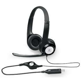 Headset Usb Voip Logitech H390 Microfone Volume Pc Notebook