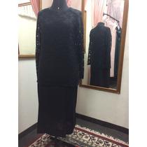 Vestido De Festa Alta Costura Preto Plus Size (grande)