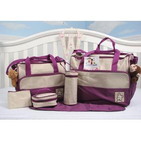 Bolso Maternal De 5 Piezas Para Bebe - Varios Colores