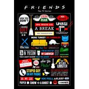 Placa Quadro Decorativo Friends Seriado Series (v610)