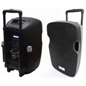 Caixa Som Amplificada 1200w Bluetooth Microfo S/ Fio Bateria