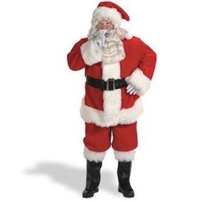 Traje De Santa Claus Importado Marca Halco Y Accesorios