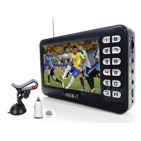 Tv Digital Bolso Portatil Tela 4.3 Usb Radio Fm Sd Video