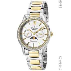 c302943cf4f Relogio Feminino Prata Com Dourado Champion Passion - Relógios De ...