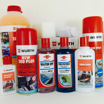 Kit Wurth Water Off + Higienizador + Silicone + Shampoo