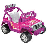 Barbie Power Wheels Jeep Wrangler De Lujo, Barbie Rosa