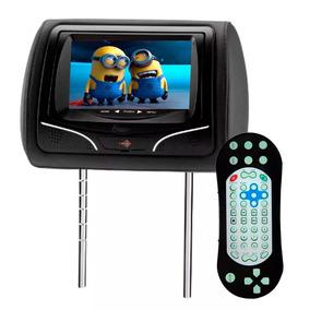 Dvd Encosto Cabeça Tela 7 Pol Leitor De Usb Sd Card Controle