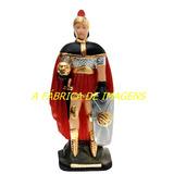 Imagem Ogum Megê Da Calunga Estatua Soldado 40cm Gesso Br