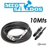 Megasaldos Cable Microfono Plug Canon Xlr 10 Metros Audio