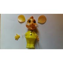 Brinquedo Antigo Boneco Topo Gigio Plástico Soprado Bolha.