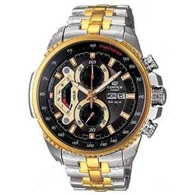 d6ba3939a20 Casio Edifice Ef 329sg Ef 329 Dourado Branco Aço Ef 329d - Relógios ...