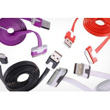 Cable Usb Cargador Apple Iphone 3gs 4 4s Ipod Ipad 1mt Plano