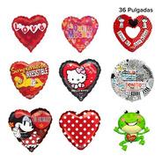 15 Globos Metálicos Amor Y Amistad San Valentín Mayoreo 36