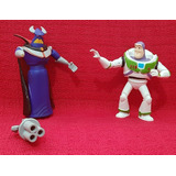 2008 Toy Story Miniaturas Buzz Lightyear + Zurg Ri-happy!