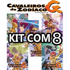 Kit 8 Mangá Cavaleiros Zodíaco Episódio G 11 Ao 18 -lacrados