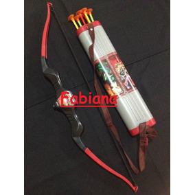 Kit Arco E Flecha Com Ventosas E Porta Flechas Brinquedo