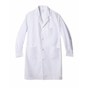 Guardapolvo Escolar Unisex Blanco Recto .talles Del 6 Al 14