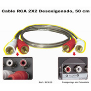 Zrca25 Cable Rca 2x2 Macho-macho 50 Cm Computoys
